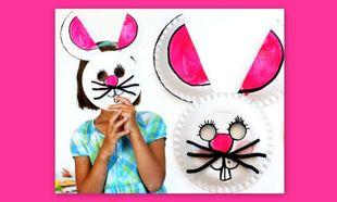 Φτιάξτε μια αποκριάτικη μάσκα λαγού από χάρτινα πιατάκια!