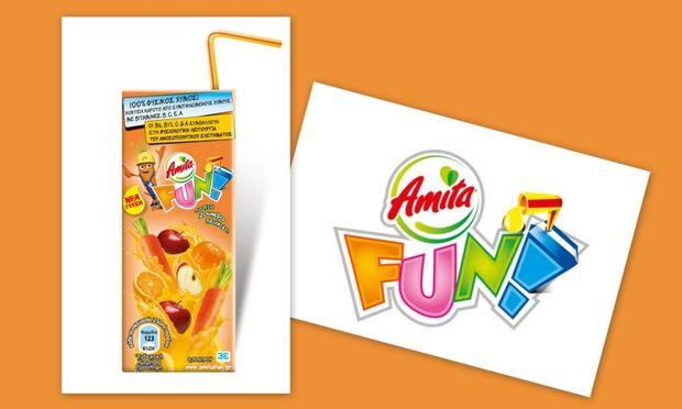 Νέα ζουμερή γεύση Amita FUN! Κοκτέιλ Καρότο