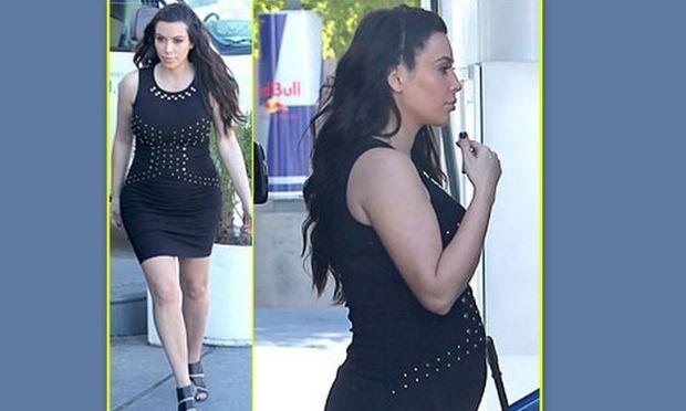 Kim Kardashian: Ό,τι και να κάνει, πλέον φαίνεται η κοιλίτσα της! (φωτό)