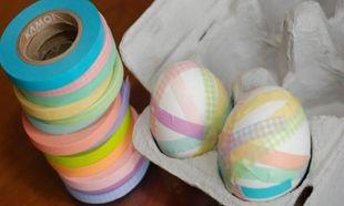 Ψάχνετε κάτι διαφορετικό για τα Πασχαλινά αβγά σας; Στολίστε τα με χαρτοταινίες!