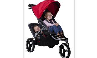 Βολικό καροτσάκι για μαμάδες με δύο παιδιά!