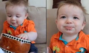 Βίντεο: Με τους ήχους του γιου του έκανε τραγούδι!