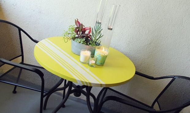 Δώστε χρώμα στη βεράντα ανανεώνοντας το τραπέζι σας!