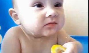 Βίντεο: Κι όμως του αρέσει το… λεμόνι!