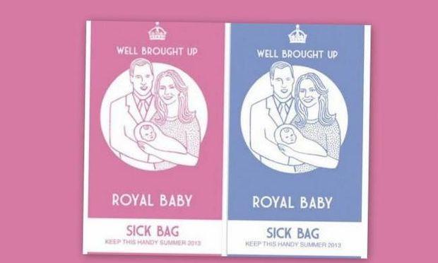 Μέχρι και σακούλα εμετού έγινε το μωρό που περιμένουν η Kate και ο πρίγκιπας William