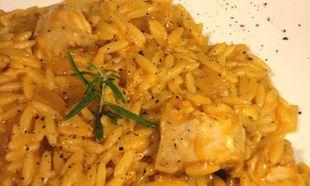 Συνταγή για κοτόπουλο με κριθαράκι και λαχανικά!
