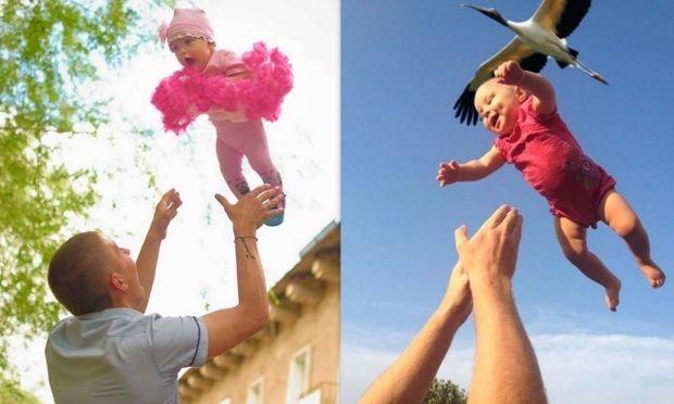 Τα μωρά που... πετάνε! (φωτογραφίες)