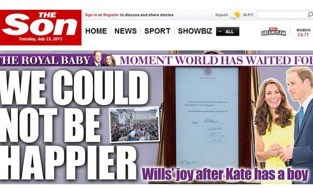 Είναι τρελοί αυτοί οι Βρετανοί! Tο site της «The Sun», βγήκε σήμερα ως «The Son» (εικόνα)