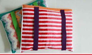 Φτιάξτε μια τσάντα θαλάσσης από πετσέτα
