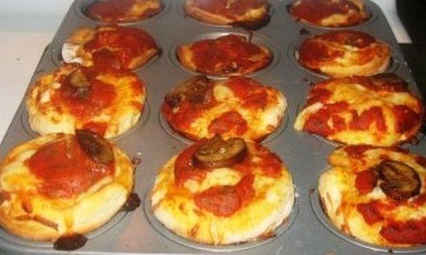 Συνταγή για απίθανα πιτσάκια… muffins!