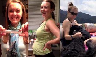 9 μήνες εγκυμοσύνης μέσα σε 5 λεπτά (βίντεο)