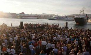 Μαγική πρόβα της Λυρικής στο λιμάνι του Πειραιά (βίντεο)