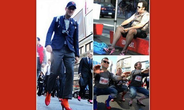 Οι άνδρες φόρεσαν τις...γόβες τους με σκοπό την ευαισθητοποίηση για την ενδοοικογενειακή βία