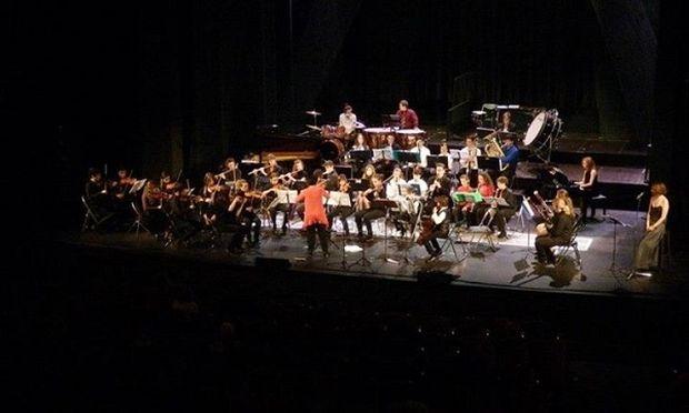 Η Παιδική Νεανική Συμφωνική Ορχήστρα στην πρώτη της συναυλία, την Κυριακή 20 Οκτώβριου