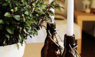 Φτιάξτε υπέροχα κηροπήγια από.. μπουκάλια!