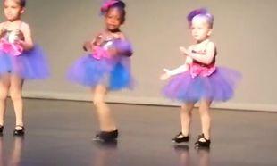 Παράσταση χορού με μια ξεχωριστή μικρή μπαλαρίνα! (Βίντεο)