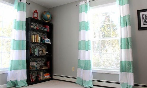Μετατρέψτε τις παλιές μονόχρωμες κουρτίνες σας (φωτογραφίες)