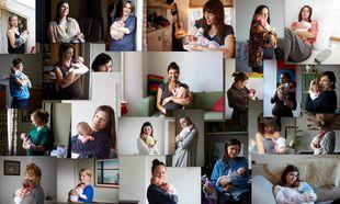 «H πρώτη αγκαλιά»! Ενα μοναδικό πρότζεκτ με μανούλες που κρατούν αγκαλιά τα νεογέννητα μωρά τους