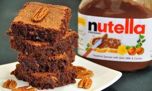 Σοκολατένια brownies με νουτέλα ή μερέντα
