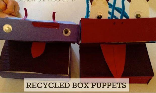 Φτιάξτε ανέξοδα μαριονέτες από κουτιά δημητριακών (φωτογραφίες)