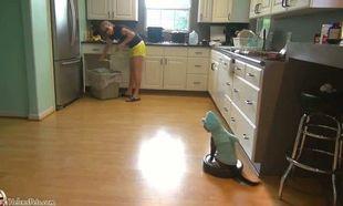Τις δουλειές του σπιτιού δεν τις κάνει η γυναίκα, αλλά η γάτα της μεταμφιεσμένη σε…Δείτε το απίστευτο βίντεο!
