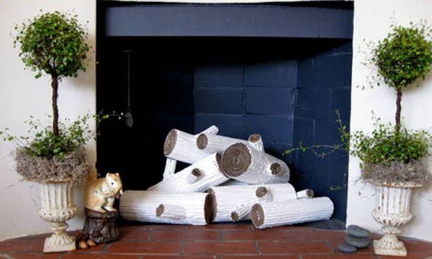 Φτιάξτε τέλεια διακοσμητικά κούτσουρα από χαρτόνι