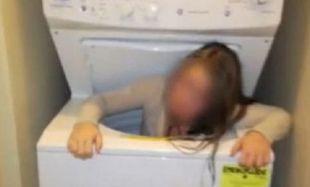 Εντεκάχρονη σφήνωσε στο πλυντήριο ενώ έπαιζε κρυφτό (βίντεο)