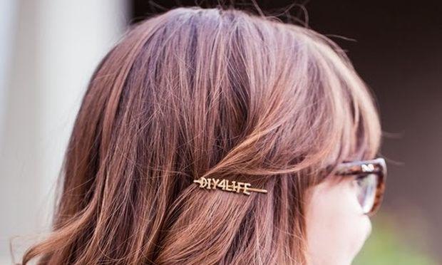 Διακοσμήστε τσιμπιδάκια μαλλιών με το όνομα της κορούλας σας (εικόνες)