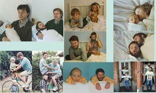 Τα δύο αδέλφια παίρνουν τις ίδιες πόζες που είχαν φωτογραφηθεί ως παιδιά! (εικόνες)