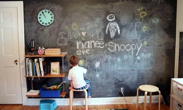 Φτιάξτε έναν μαυροπίνακα στον τοίχο του παιδικού δωματίου