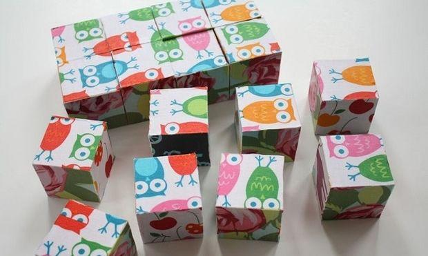 Φτιάχνουμε οικονομικό υφασμάτινο παζλ από φελιζόλ για μωρά (εικόνες)