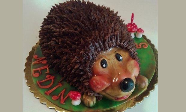 My cakes - My hobby: Φτιάχνουμε τούρτα σκαντζοχοιράκι
