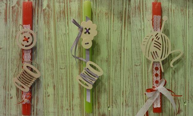 Φτιάξτο μόνη σου: Κουμπάκια και κλωστές! Μια αλλιώτικη ιδέα για πασχαλινή λαμπάδα