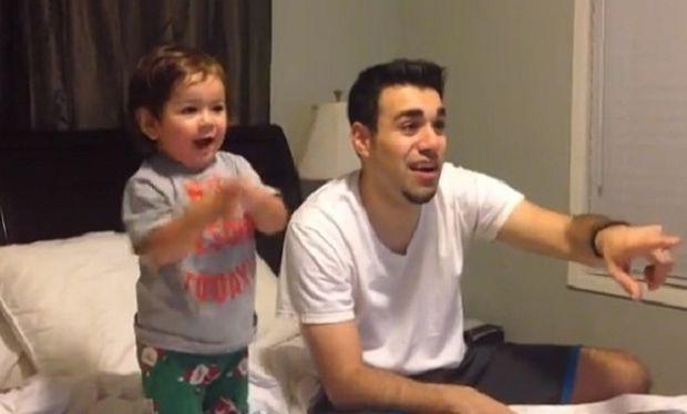 Μπαμπάς και γιος βλέπουν για πρώτη φορά μαζί ποδόσφαιρο! (βίντεο)