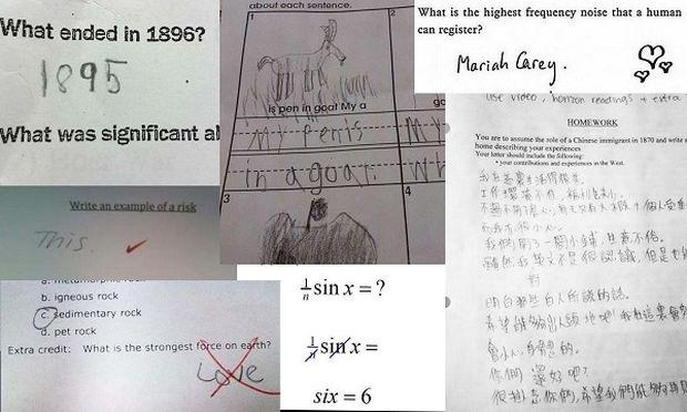 Αυτές οι αστείες απαντήσεις μαθητών, γράφουν ιστορία! (εικόνες)