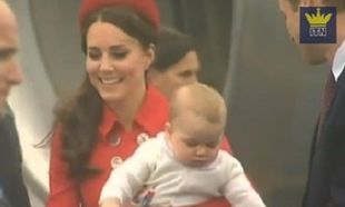 Η πρώτη παγκόσμια περιοδεία του 8μηνου πρίγκιπα Τζορτζ! (βίντεο)