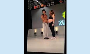 Χόρεψε με τον... βασιλιά της ζούμπα στον 7ο μήνα της εγκυμοσύνης της! (εικόνες,βίντεο)