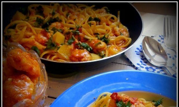 Συνταγή για λιγκουίνι με γαρίδες σαγανάκι!