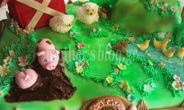 Μy cakes my hobby: Φτιάχνουμε θεματική τούρτα φάρμα με ζωάκια!