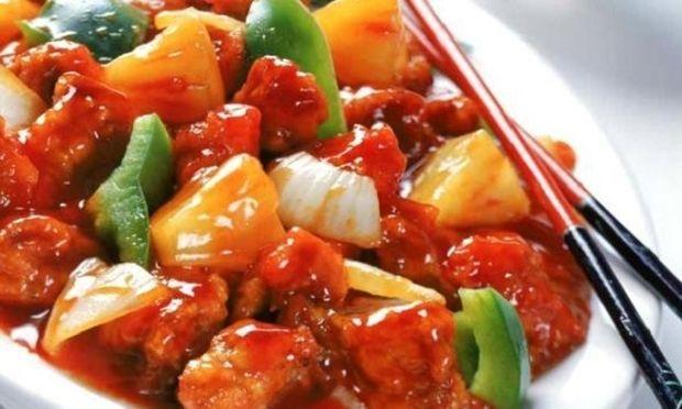 Συνταγή για χοιρινό με γλυκόξινη σάλτσα και ρύζι basmati