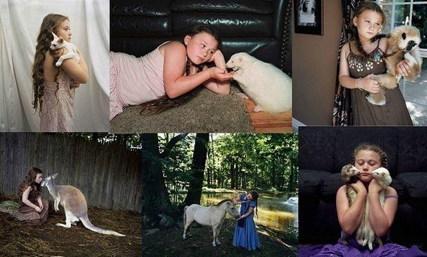 Εκπληκτικό! Από την ώρα που γεννήθηκε μεγαλώνει με ζώα (εικόνες)