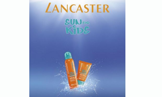 Sun for kids από την Lancaster! Τα πρώτα αντηλιακά για παιδιά που μπαίνουν κατευθείαν επάνω σε βρεγμένη επιδερμίδα!