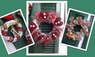 Φτιάξτο μόνη σου: Χριστουγεννιάτικα στεφάνια για την πόρτα!