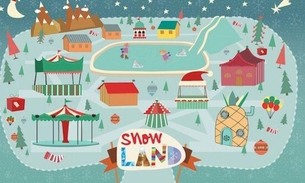 Snow Land: η μεγαλύτερη χιονισμένη πόλη στο ΟΑΚΑ