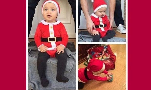 Ο κούκλος γιος πασίγνωστου ζευγαριού ντύθηκε Άγιος Βασίλης! (εικόνα)