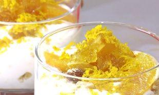 Κουραμπιέδες με κρέμα πορτοκαλιού στο ποτήρι!