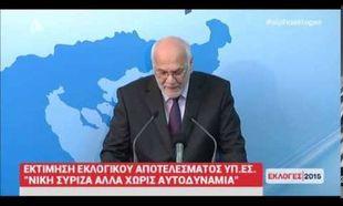 Αποτελέσματα εκλογών 2015 - Υπ.Εσ: 150 Έδρες η εκτίμηση για τον ΣΥΡΙΖΑ (βίντεο)