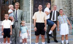 Τρία αδέρφια αναδημιουργούν τις παιδικές τους φωτογραφίες! Δείτε το αποτέλεσμα(εικόνες)