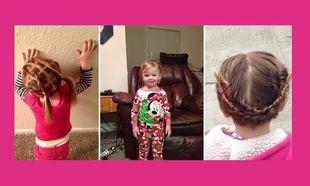 Αυτός ο μπαμπάς δεν ήξερε πώς να χτενίσει τα μαλλιά της κόρης του και έτσι πήγε σε σχολή για να μάθει!