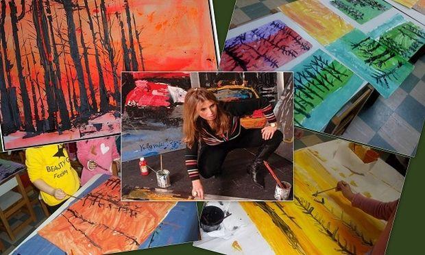 Τα παιδιά ξανα-ζωγραφίζουν τα «Δένδρα» Μίνας Παπαθεοδώρου – Βαλυράκη!